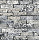 Brewster Wallcovering Co FD23288 Painted Brick Grey Brick Wallpaper,