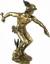 Greek God Hermes Bronzed Finish Statue Mercury Luck