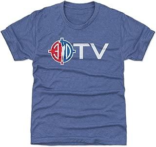 500 LEVEL Orlando Basketball Youth Shirt - Kids X-Small (4-5Y) Tri Royal - 3D TV WHT