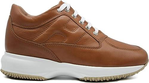 Hogan Sneaker Donna Interactive Pelle Marrone HXW00N00010O6LS003 ...