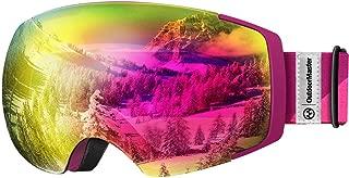 OutdoorMaster Ski Goggles PRO – Frameless, Interchangeable Lens 100% UV400..