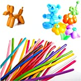 Seddex 200 PCS Latex Twisting Balloons 260Q Magic Balloons Assorted Color Long Balloons for Animal Shape Party Decorations