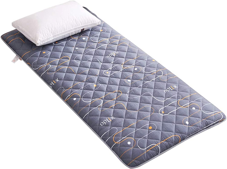 Thick Mattress Student Dormitory Tatami Sponge Mat - 4 Size (color   1, Size   90x200cm)