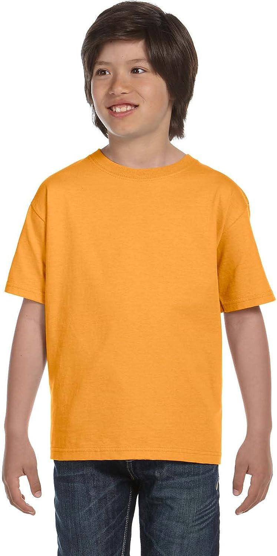 Hanes Kids' Beefy 6.1 oz T-Shirt, Gold, L