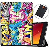 MAITTAO Slim Folio For Verizon ASUS ZenPad Z8S Case ZT582KL 2017 Release, Magentic Smart Stand Cover with Wake/Sleep for Verizon ASUS ZenPad Z8S 7.9-Inch Tablet Sleeve Bag 2 in 1, Flowers & Leafs 1