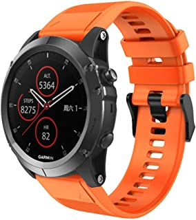 Tomepeia Soft Silicone Replacement Strap for Garmin Fenix 5X Plus, Quick Release Watch Band, 26mm