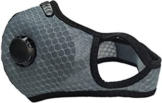 BeAcient Dust Mask with Breathing Valve, Bicycle Mesh Face Mask With Nose Clip-on Windproof Anti Dust Air Pollution Activa...