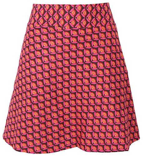 GURU SHOP Wenderock, Minirock, Damen, Grau/pink, Baumwolle, Size:XL (42), Röcke/Kurz Alternative Bekleidung