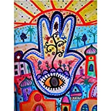 Puzzle 1000 piezas Pintura de ojos árbol artesanía ciudad ilustración colorida arte decoración pintura puzzle 1000 piezas animales Rompecabezas de juguete de descompresión int50x75cm(20x30inch)