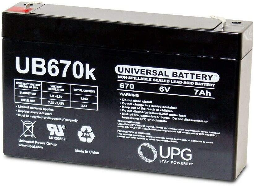 Ranking TOP6 UPG Sale Special Price UB670 6V 7AH SLA Powerware PW5115- Eaton Battery Replacement