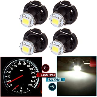 cciyu 4 Pack White T4/T4.2 Neo Wedge 1SMD LED Climate Control Light Lamp Bulb Replacement fit for 1998-2010 Honda Accord/Odyssey/Civic (white)