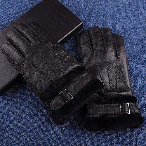 SKYyao Skihandschuhe Leder Handschuhe Paar Schaf Fell warme Handschuhe, die außen verdickten Ski Handschuhe Schaf Fell