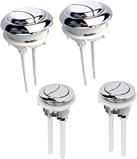 SoundZero 4 stks Toilet Spoelknop Dual 38 mm + 58mm Watertank Drukknoppen, Ronde Closestool Flush Switch Dubbele Knop Hoge...