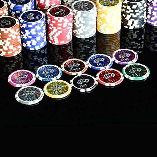 Pokerkoffer 1000 abgerundete OCEAN CHAMPION CHIPS hochwertige Metallkern Jetons 12 g Pokerset 3 Pokerdecks Aluminiumkoffer Black Jack Texas Holdem - 7