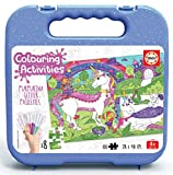 Educa - Colouring Activities: Unicornio Puzzle de 100 Piezas para Colorear, Multicolor (18066)