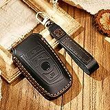 AMTXalo Llavero de cuero hecho a mano con funda para llave remota, para BMW E30 M1 M2 M3 F10 F20 F25 F30 F31 F34 1 2 3 4 5 6 7 series
