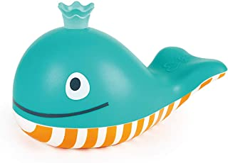 Hape Bubble Blowing Whale | Baby Squirt Toy for Bath Time Play, Blue