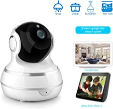 WLDOCA 1080P WiFi Home Security Camera, Baby Monitor with Camera, Indoor Cameras with Motion Detection, Night Vision, Two-Way Audio, Intelligent Auto-Tracking for Baby/Elder/Pet,EU