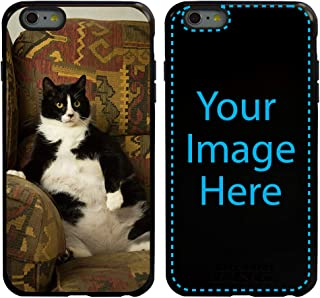 Custom Cat Cases for iPhone 6 Plus / 6s Plus by Guard Dog - Personalized - Put Your Kitty on a Rugged Hybrid Phone Case. Includes Guard Glass Screen Protector. (Black, Black)