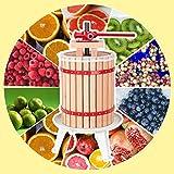 Hengda WIS Obstmühle Beerenmühle Traubenmühle Obstmuser Obsthäcksler Mühle Maischemühle mit Handkurbel Edelstahl (18 Liter Obstpresse)