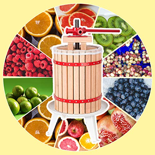 Hengda® 6 Liter Obstpresse Presse Obstpresse Saft Weinpresse Beerenpresse Apfelpresse Maischepresse mit Presstuch