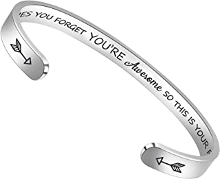 Best BTYSUN Bracelets for Women Inspirational Gifts for Women Girls Motivational Birthday Cuff Bangle Friendship Personalized Mantra Jewelry Come Gift Box Reviews