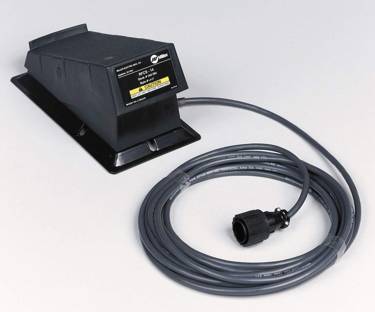 FOOT PEDAL FOR MILLER WELDERS 043554 194744 RFCS-14 DYNASTY MAXSTAR SYNCROWAVE