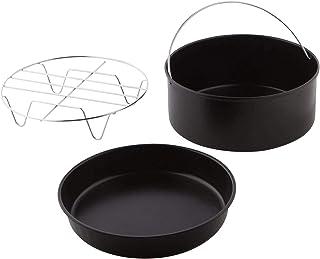 Accessoires de friteuse à air, 3 pièces/ensemble support de barbecue gâteau Barell mijoteuse maison friteuse à air accesso...