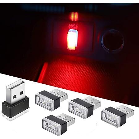 Usb Led Auto Innenraum Umgebungsatmosphäre Lichter 7pcs Plug In 5v Universal Mini Led Usb Leuchten Für Auto Innenraum Kofferraum Umgebungsatmosphäre Laptops Usb Buchsen Nachtlichter 7 Farben Auto