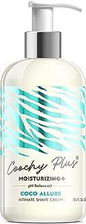 Coochy Plus Intimate Shaving Cream COCO ALLURE For Pubic, Bikini Line, Armpit and more - Rash-Free With Patent-Pending MOI...