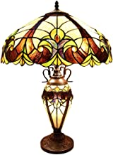 River of Goods Tiffany Table Lamp: Double Lit Stained Glass Lamps for Side, End and Coffee Tables