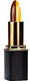 L'Paige L12 Brown/Yellow Split-Stick Lipstick, AloeVera, All-Natural, Long-lasting Moisturizing, .12 oz.
