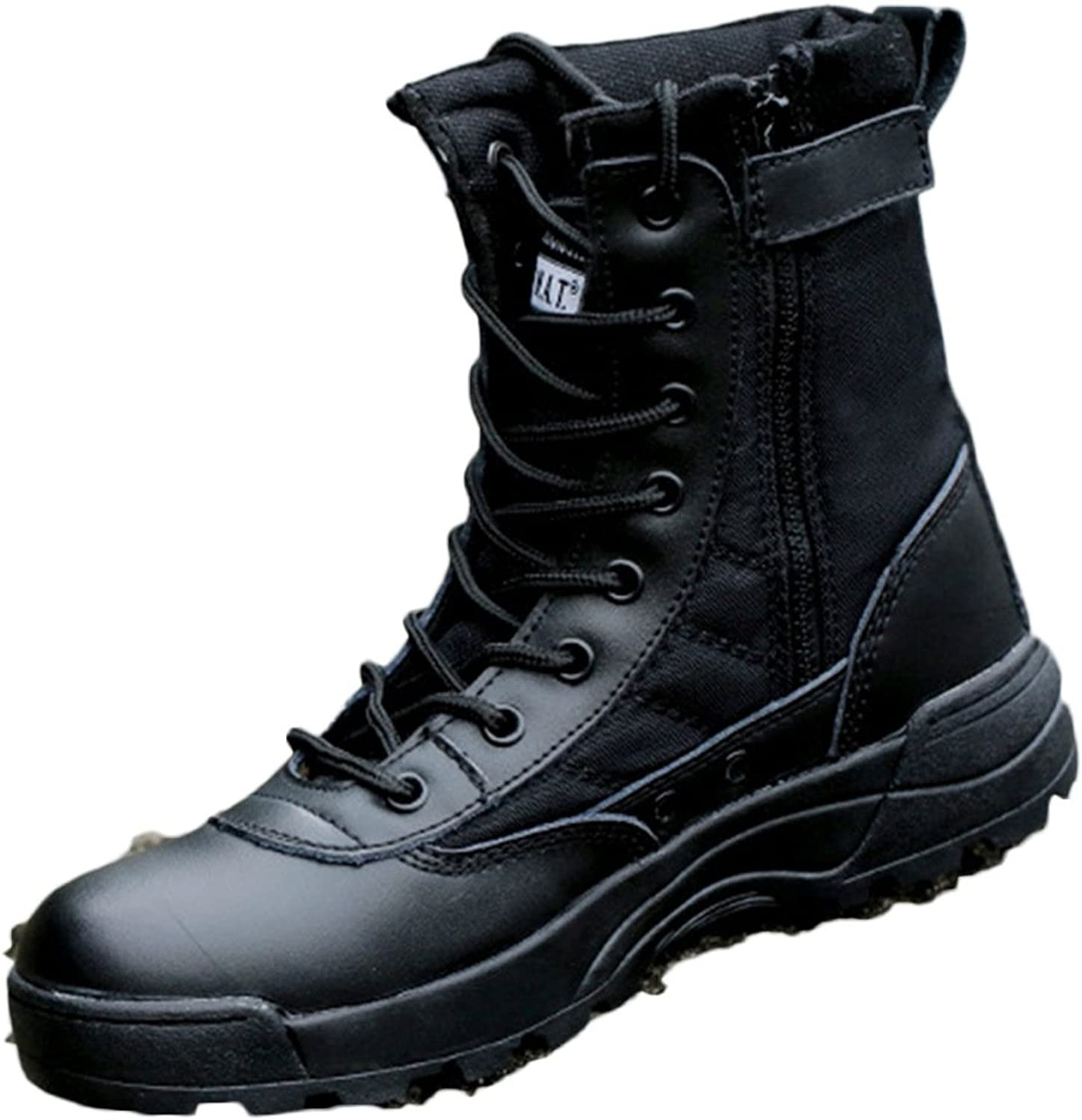 Hiking shoes Men Waterproof Black Lightweight Military Boots High-top Combat Boots Outdoor Tactical Boots