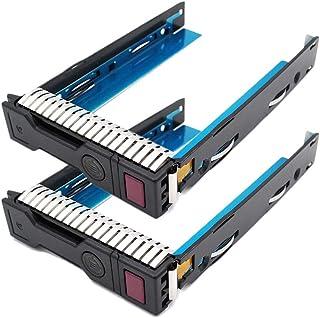 (2個) 3.5インチ LFF SAS SATA HDDトレイキャディ HP ProLiant MicroServer 651314-001 651320-001 Gen8 G8 Gen9 G9 ハードドライブトレイ DL380P DL360P...