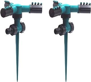 2Pcs Lawn Sprinkler Garden Sprinkler 360 Degree Rotating Garden Sprinkler with A Large Area of Coverage Adjustable