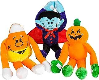 Halloween Plush 3 Pcs Halloween Stuffed Animal for Kids & Toddlers - 8 Inch Long Arm Pumpkin Plush Toy, Candy Corn, & Vamp...