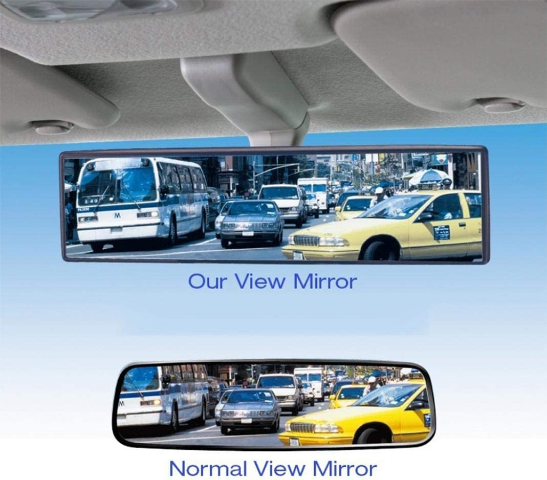 White Grebest Car Rear View Mirror Interior Decoration Rearview Mirror 1Pc Universal Car Auto Blind Spot Mirror Wide Angle Adjustable Safety Rearview