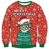 Lustig Katze Weihnachtspullover