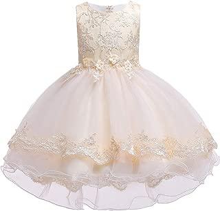 Áo quần dành cho bé gái – 2-10T Girls Dresses High Low Wedding Pageant Party Dress