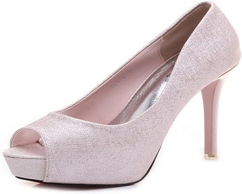 HBDLH Chaussures pour Femmes Chaussures étanches Unique Poisson Bouche avec avec avec 12 Cm Super Talons Hauts Printemps Nuit Sexy Porter des Chaussures. a5c