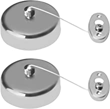 QUICK SILVER Stainless Steel Retractable and Lockable Cloths line (Set of 2 Pcs) Chrome Finish
