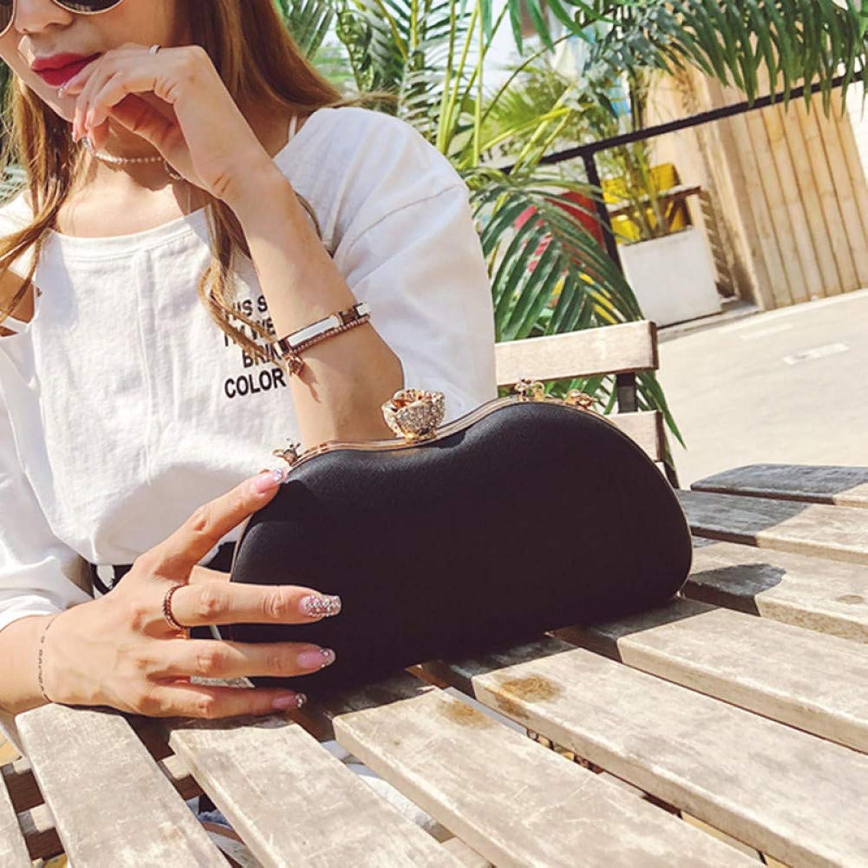 HKDUC Luxus   Abendtaschen Diamant Day Kupplung Frauen Geldbörse Handtaschen Geldbörsen Abend Hochzeit Tasche Kette Frauen Umhängetasche Tote B07PHLS2RX