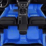 Tuqiang Alfombrillas de coche personalizadas para Opel Aatara Astra Mocha Omega Grandland Corsa Cascada Adam Insignia Zafira, resistentes al agua, antideslizantes, color azul