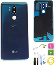 G7 Back Glass for LG G7 ThinQ Waterproof Battery Back Cover+Camera Lens Cover/OEM Rear Panel Back Glass Replacement with G7 ThinQ G710ULM G710VMX G710PM LMG710TM/VM All Version (Blue)