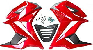 Motorcycle Fairing kit For Honda Grom MSX125 SF Mid Fairing Belly Pan Set for MSX125SF 2016-2017 (Red)