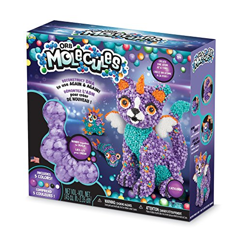 "The Orb Factory Orbmolecules Caticorn Never Dries Compound, Purple/Aqua/Orange, 9.44"" x 3.44"" x 8.44"" -Packaging May Vary"
