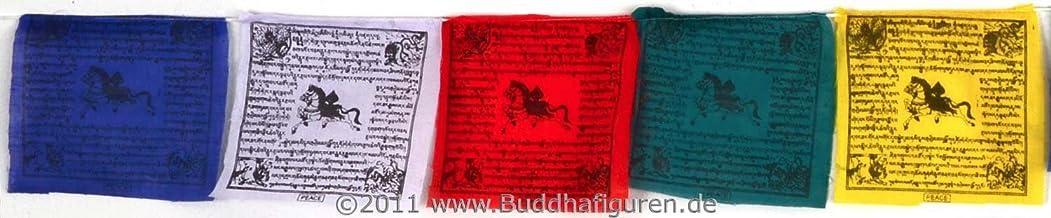Buda Figuras//Billy Held Banderas de oraci/ón tibetana Tibet Banderas de Banderas de pl/ástico 1,6/m 10/A 16/x 15/cm
