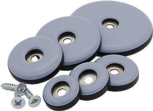 16 stuks teflon glijders om te schroeven, Ø 19-50 mm (30 mm) PTFE glijders stoelglijders