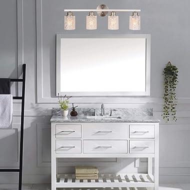 "ALICE HOUSE 28.7"" Vanity Lights, 4 Light Wall Lighting, Brushed Nickel Bathroom Lights Over Mirror, Bathroom Lighting AL9"
