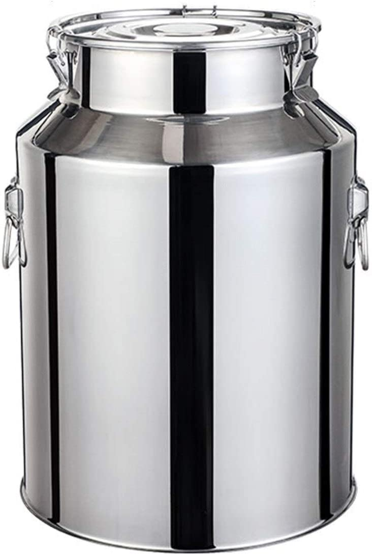 Stainless Steel Milk Can Metal Bucket Jar Lid Kitchen Barrels 40% OFF Cheap High material Sale w
